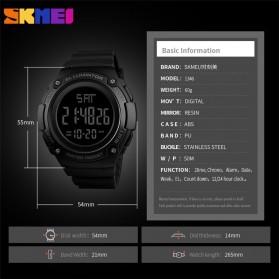 SKMEI Jam Tangan Digital Sporty Pria - 1346 - Black/Titanium - 5