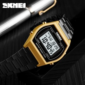 SKMEI Jam Tangan Digital Pria - 1328 - Rose Gold/Black - 2