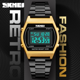 SKMEI Jam Tangan Digital Pria - 1328 - Rose Gold/Black - 3