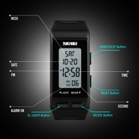 SKMEI Jam Tangan Digital Sporty - 1362 - Black - 3