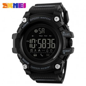 SKMEI Jam Tangan Sporty Smartwatch Bluetooth - 1385 - Black
