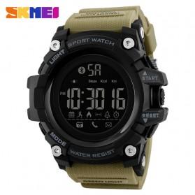 SKMEI Jam Tangan Sporty Smartwatch Bluetooth - 1385 - Khaki