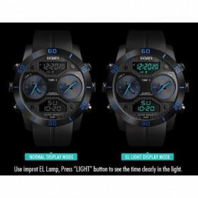 SKMEI Jam Tangan Digital Analog 3 Time Pria - 1355 - Black - 3
