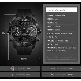 SKMEI Jam Tangan Digital Analog 3 Time Pria - 1355 - Black - 5