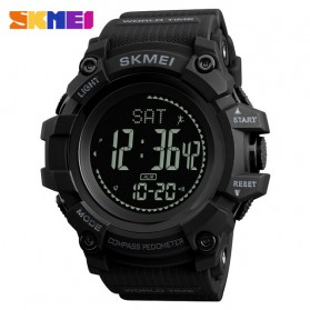 SKMEI Jam Tangan Digital Sporty Pria Pedometer Calorie Compass - 1356 - Black