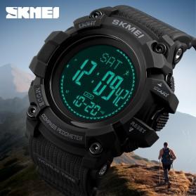 SKMEI Jam Tangan Digital Sporty Pria Pedometer Calorie Compass - 1356 - Black - 2
