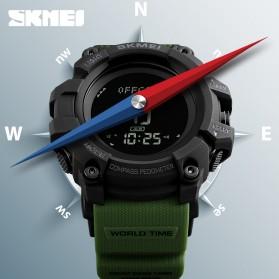SKMEI Jam Tangan Digital Sporty Pria Pedometer Calorie Compass - 1356 - Black - 3