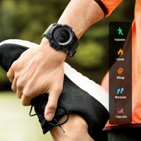 SKMEI Jam Tangan Digital Sporty Pria Pedometer Calorie Compass - 1356 - Black - 5