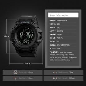 SKMEI Jam Tangan Digital Sporty Pria Pedometer Calorie Compass - 1356 - Black - 6