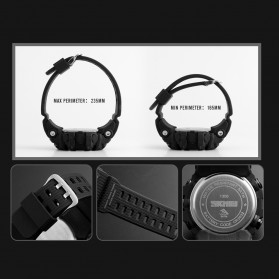 SKMEI Jam Tangan Digital Sporty Pria Pedometer Calorie Compass - 1356 - Black - 7