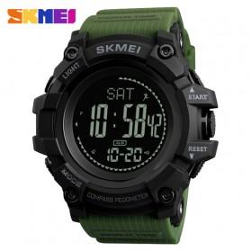 SKMEI Jam Tangan Digital Sporty Pria Pedometer Calorie Compass - 1356 - Army Green