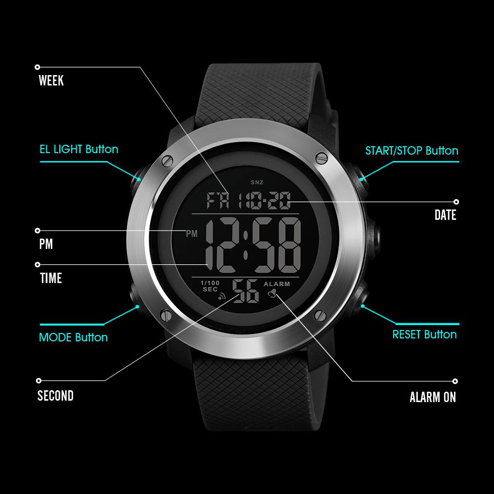 Skmei Jam Tangan Digital Sporty Pria 1416 Black Analog Ad1016 5