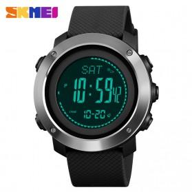 SKMEI Jam Tangan Digital Sporty Pria Pedometer Calorie Compass - 1418 - Black