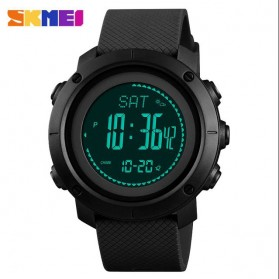 SKMEI Jam Tangan Digital Sporty Pria Pedometer Calorie Compass - 1427 - Black