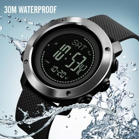 SKMEI Jam Tangan Digital Sporty Pria Pedometer Calorie Compass - 1427 - Black - 2