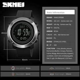 SKMEI Jam Tangan Digital Sporty Pria Pedometer Calorie Compass - 1427 - Black - 6