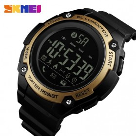 SKMEI Jam Tangan Sporty Smartwatch Bluetooth - 1347 - Black Gold