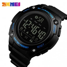 SKMEI Jam Tangan Sporty Smartwatch Bluetooth - 1347 - Black/Blue