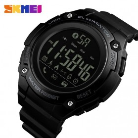 SKMEI Jam Tangan Sporty Smartwatch Bluetooth - 1347 - Black
