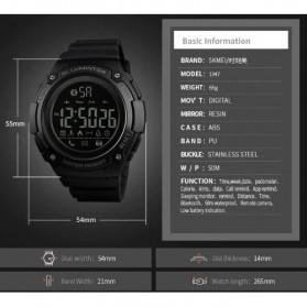 SKMEI Jam Tangan Sporty Smartwatch Bluetooth - 1347 - Black - 6