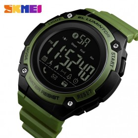 SKMEI Jam Tangan Sporty Smartwatch Bluetooth - 1347 - Army Green