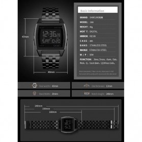 SKMEI Jam Tangan Digital Pria - 1368 - Black - 6