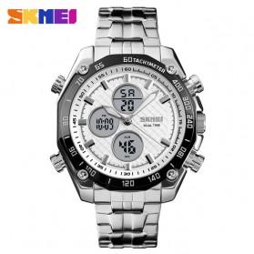 SKMEI Jam Tangan Kasual Digital Analog Pria - 1302 - White/Silver