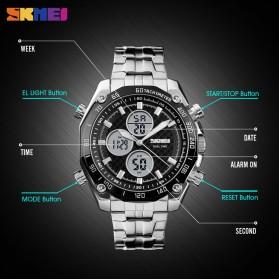 SKMEI Jam Tangan Kasual Digital Analog Pria - 1302 - Black/Black - 4