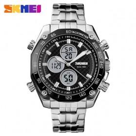 SKMEI Jam Tangan Kasual Digital Analog Pria - 1302 - Silver Black