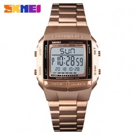 SKMEI Jam Tangan Digital Pria - 1381 - Rose Gold/Black
