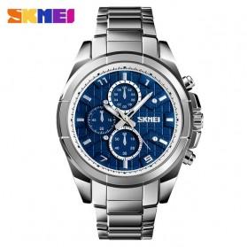 SKMEI Jam Tangan Analog Pria Strap Stainless Steel - 1378 - Silver Blue