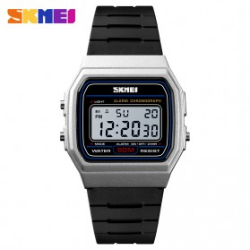 SKMEI Jam Tangan Digital Elegant Pria - 1412 - Black with White Side
