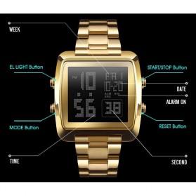 SKMEI Jam Tangan Modern Digital Pria - 1369 - Rose Gold - 3