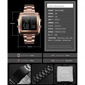 SKMEI Jam Tangan Modern Digital Pria - 1369 - Rose Gold - 6