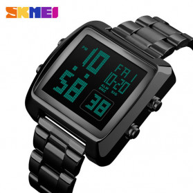 SKMEI Jam Tangan Modern Digital Pria - 1369 - Black