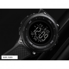SKMEI Jam Tangan Digital Sporty Pria - 1441 - Black/Black - 2