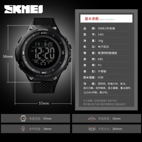 SKMEI Jam Tangan Digital Sporty Pria - 1441 - Black/Black - 3