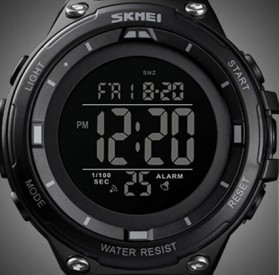 SKMEI Jam Tangan Digital Sporty Pria - 1441 - Black/Black - 10