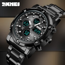 SKMEI Jam Tangan Kasual Digital Analog Pria - 1389 - Black - 6