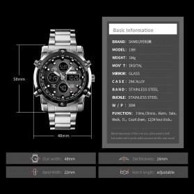 SKMEI Jam Tangan Kasual Digital Analog Pria - 1389 - Silver Black - 4