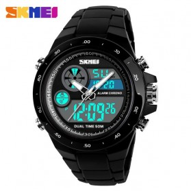 SKMEI Jam Tangan Digital Analog Pria - 1429 - Black