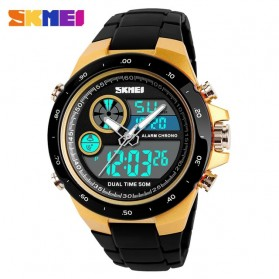 SKMEI Jam Tangan Digital Analog Pria - 1429 - Golden