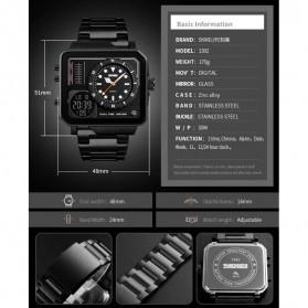 SKMEI Vogue Jam Tangan Digital Analog Pria - 1392 - Silver - 4