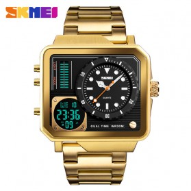 SKMEI Vogue Jam Tangan Digital Analog Pria - 1392 - Golden