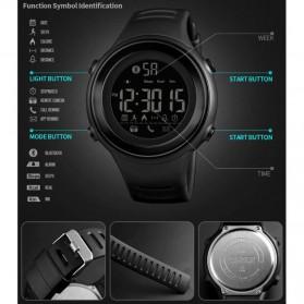 SKMEI Jam Tangan Olahraga Smartwatch Bluetooth - 1396 - Black/Silver - 2