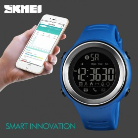 SKMEI Jam Tangan Olahraga Smartwatch Bluetooth - 1396 - Black/Silver - 3