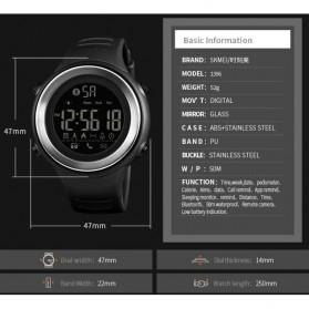 SKMEI Jam Tangan Olahraga Smartwatch Bluetooth - 1396 - Black/Silver - 7