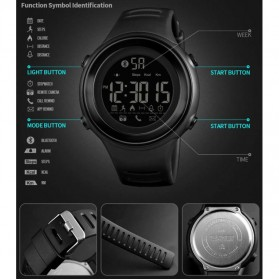 SKMEI Jam Tangan Olahraga Smartwatch Bluetooth - 1396 - Army Green - 2
