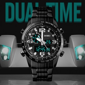 SKMEI Jam Tangan Digital Analog Pria - 1453 - Black - 2