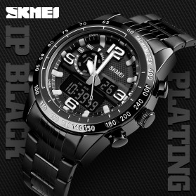 SKMEI Jam Tangan Digital Analog Pria - 1453 - Black - 3